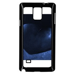 Blue Heart Collection Samsung Galaxy Note 4 Case (Black)