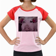 Piggy No  1 Women s Cap Sleeve T Shirt
