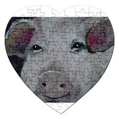 Piggy No  1 Jigsaw Puzzle (heart)