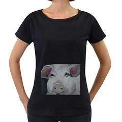 Piggy No. 1 Women s Loose-Fit T-Shirt (Black)