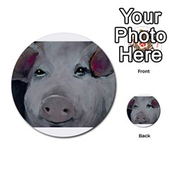 Piggy No. 1 Multi-purpose Cards (Round)