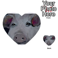 Piggy No  1 Multi Purpose Cards (heart)