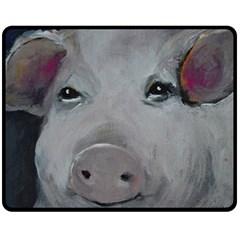 Piggy No. 1 Fleece Blanket (Medium)