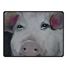 Piggy No. 1 Fleece Blanket (Small)