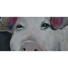 Piggy No  1 You Are Invited 3d Greeting Card (8x4)