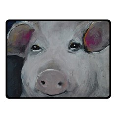 Piggy No  1 Double Sided Fleece Blanket (small)