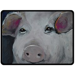 Piggy No  1 Double Sided Fleece Blanket (large)