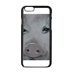 Piggy No  1 Apple Iphone 6 Black Enamel Case
