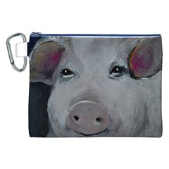 Piggy No  1 Canvas Cosmetic Bag (xxl)