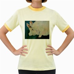 Piggy No  2 Women s Fitted Ringer T Shirts