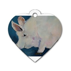 Piggy No  2 Dog Tag Heart (one Side)
