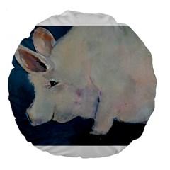 Piggy No  2 Large 18  Premium Round Cushions
