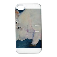 Piggy No  2 Apple Iphone 4/4s Hardshell Case With Stand