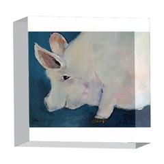 Piggy No. 2 5  x 5  Acrylic Photo Blocks