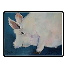 Piggy No. 2 Double Sided Fleece Blanket (Small)