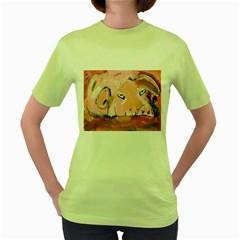Piggy No 3 Women s Green T Shirt