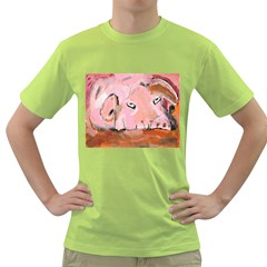 Piggy No.3 Green T-Shirt