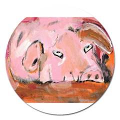 Piggy No 3 Magnet 5  (round)