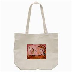 Piggy No 3 Tote Bag (cream)
