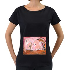 Piggy No 3 Women s Loose Fit T Shirt (black)