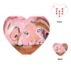 Piggy No 3 Playing Cards (heart)