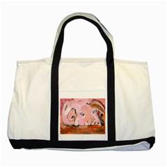 Piggy No 3 Two Tone Tote Bag