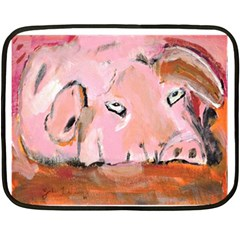 Piggy No 3 Fleece Blanket (mini)