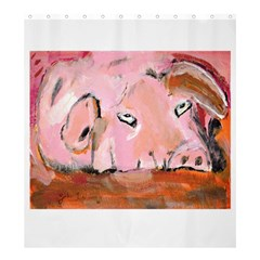 Piggy No 3 Shower Curtain 66  X 72  (large)