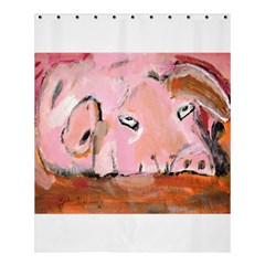 Piggy No 3 Shower Curtain 60  X 72  (medium)