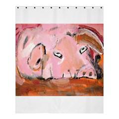 Piggy No.3 Shower Curtain 60  x 72  (Medium)