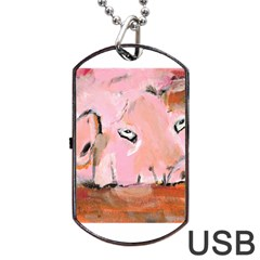Piggy No 3 Dog Tag Usb Flash (two Sides)