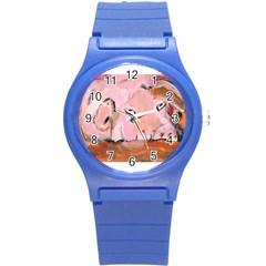 Piggy No 3 Round Plastic Sport Watch (s)