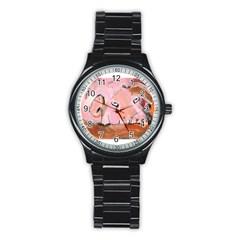 Piggy No 3 Stainless Steel Round Watches