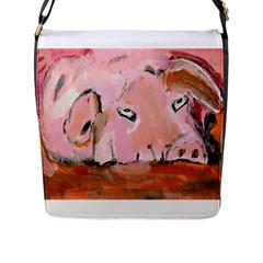 Piggy No 3 Flap Messenger Bag (l)