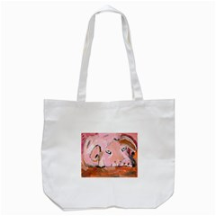 Piggy No 3 Tote Bag (white)