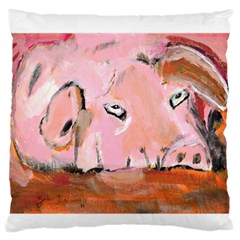 Piggy No.3 Large Flano Cushion Cases (One Side)