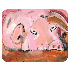 Piggy No.3 Double Sided Flano Blanket (Medium)