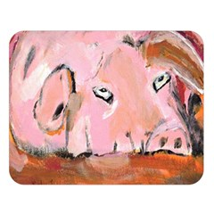 Piggy No.3 Double Sided Flano Blanket (Large)