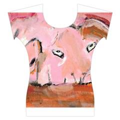 Piggy No.3 Women s Cap Sleeve Top