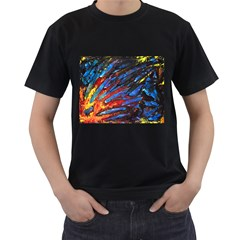 The Looking Glas Men s T Shirt (black) (two Sided)