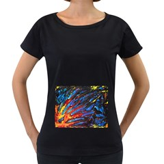 The Looking Glas Women s Loose-Fit T-Shirt (Black)