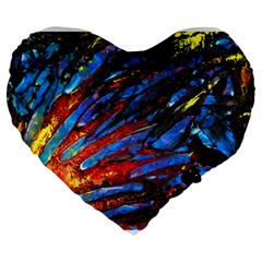 The Looking Glas Large 19  Premium Flano Heart Shape Cushions
