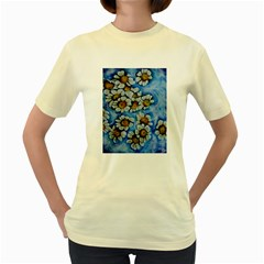 Floating On Air Women s Yellow T Shirt