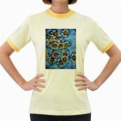 Floating On Air Women s Fitted Ringer T Shirts
