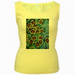 Floating On Air Women s Yellow Tank Tops