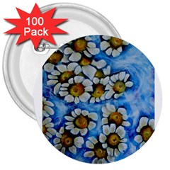 Floating On Air 3  Buttons (100 Pack)