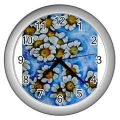 Floating On Air Wall Clocks (silver)