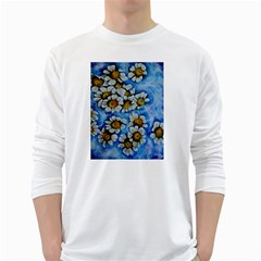 Floating on Air White Long Sleeve T-Shirts
