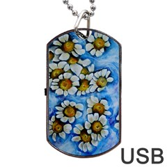 Floating On Air Dog Tag Usb Flash (two Sides)