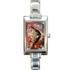 Red Mask Rectangle Italian Charm Watches